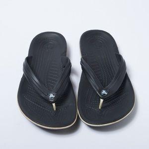 Croc Black Flip Flops